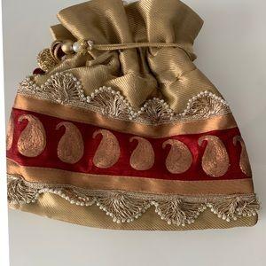 Handbags - Ethnic Indian clutch potli bag